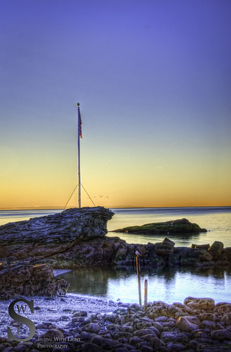sunrise morning light at Anchor beach-