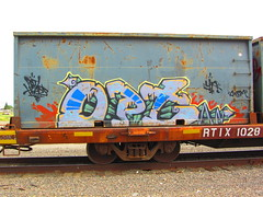 Opt (VDub (o\I/o)) Tags: railroad art painting graffiti paint pieces rail railway railcar heads boxcar panels graff piece aerosol freight boxcars opt freights railart piecing railside benching railheads