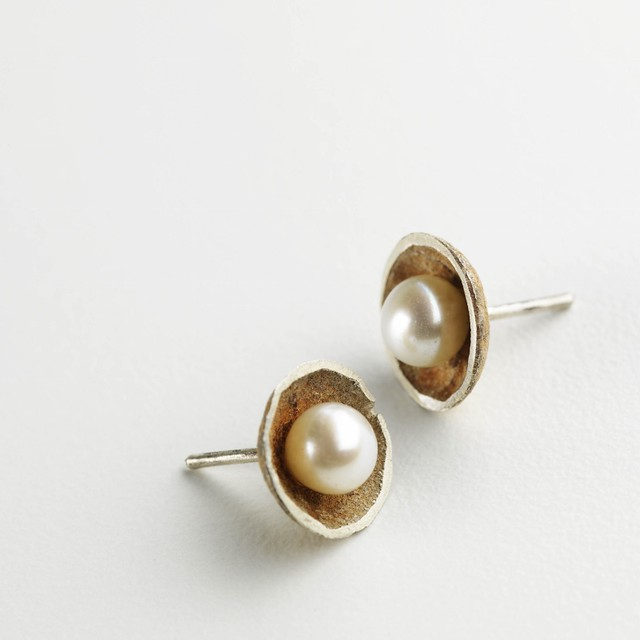 73 'Pearl cup studs' by Merlin Planterose