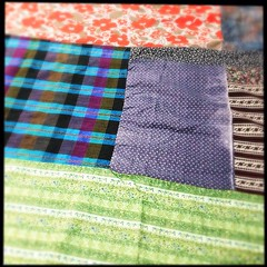"""Making a #spring #quilt #textile #collage • <a style=""""font-size:0.8em;"""" href=""""https://www.flickr.com/photos/61640076@N04/8637747885/"""" target=""""_blank"""">View on Flickr</a>"""