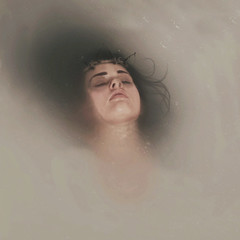 Wishbone (Erin Graboski) Tags: art female photography milk artist underwater fineart tub bones bathtub bone conceptual fineartphotography milkbath eringraboski