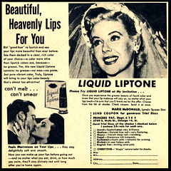 Marie McDonald for Liquid Liptone (Harald Haefker) Tags: pictures cinema film promotion vintage magazine ads movie print advertising pub kino publicidad reclame ad makeup cine lips retro anuncio advertisement nostalgia 1950s advert 1956 lipstick werbung liquid publicit magazin reklame affiche publicitario cin pubblicit motionpicture lippen rclame lasting lippenstift cinematgrafo celluloide cinoche mariemcdonald liptone pubblicizzazione