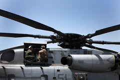 So I Says to the Guy ... (United States Marine Corps Official Page) Tags: friends afghanistan usmc friendship helicopter repair af marinecorps hmh461 helmandprovince campbastion gabrielagarcia ch53superstallion marinesmilitary isaystohim isaystotheguy victoriaapierce matthewrmawhorr