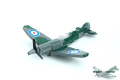 Lego Spitfire MKII ([Stijn Oom]) Tags: light usa tower germany force lego air stickers tags searchlight british spitfire engand decals luft messerschmitt waffe luftwaffe legouli belgiumww2builder