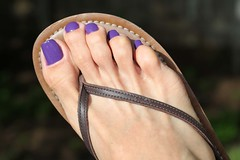 Zoya Mira (IPMT) Tags: man sexy men feet fetish foot zoya toes purple painted polish thong barefoot pedicure mira sandal toenails toenail nailpoish