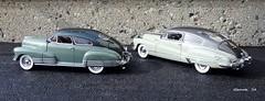 1948 Buick Roadmaster Sedanet Coupe & 1948 Chevrolet Fleetline AeroSedan (JCarnutz) Tags: 1948 chevrolet buick fleetline diecast roadmaster 124scale danburymint sedanette aerosedan
