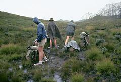 Donning the Wet Weather Gear, Wirritin Ridge, Budawang National Park, 9th November, 1972. (garratt3) Tags: aus budawangs bushwalking currockbilly film takumar mortonnationalpark unescoworldheritagesite ektachrome wilderness australia newsouthwales paddymade