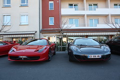 Which V8 for you ? (Antoine Beck) Tags: red england italy sun english car grey spider italian italia sunday roadtrip ferrari mclaren diablo lamborghini supercar v8 mp4 v12 458 12c mp412c