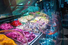 ice cream  (Karim Achalhi) Tags: life red reflection green coffee colors yellow restaurant mirror focus candles bokeh style cups morocco icecream casablanca canon550d