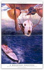 1903 May -Collier's - ( A prediction of the Zeppelins!) -  A Mid-Ocean Greeting 'An Incident of Transatlantic Travel in the near Future  drawn by Andre Castaigne  - prediction of the Zeppelin (carlylehold) Tags: opportunity mobile 1930s air ships zeppelin craft email atlantic smartphone join than lighter trans andr 1903 signup haefner castaigne fraf carlylehold solavei haefnerwirelessgmailcom solavie