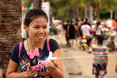 9096 Songkran. Partizan (Mishel Breen) Tags: road street new travel girls boy party people holiday men guy wet water festival children asian fun thailand happy dance women colorful asia gun shoot child play south traditional year culture happiness tourist spray east celebration event thai aim tradition splash cheerful celebrate throw throwing attraction breen pattaya songkran splashing aiming mishelbreen