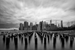 At the Old Piers - Manhattan (1982Chris911 (Thank you 1.250.000 Times)) Tags: newyorkcity sky blackandwhite bw usa newyork black skyline brooklyn clouds america skyscraper us blackwhite day skyscrapers unitedstates cloudy manhattan unitedstatesofamerica brooklynbridge highrise manhattanskyline empirestate wtc wallstreet bigapple lowermanhattan longtimeexposure brooklynbridgepark manhattannewyork newyorkphotography newyorkcityphotography newyorkskyscraper canon5dmkiii empirestateofmind skylineofnewyork canoneos5dmark3 canon5dmark3 eos5dmark3