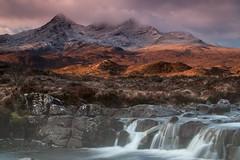 Glen Sligachan shooting towards the Black Cuillin peak of Sgurr am Basteir (fernechino) Tags: skye waterfall earlymorning