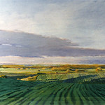 "<b>Northfield Landscape</b><br/> Maakestad, Oil, LFAC 1996:08:01, Painting<a href=""http://farm9.static.flickr.com/8259/8672724450_0587e8a26b_o.jpg"" title=""High res"">∝</a>"