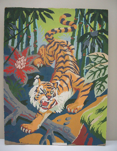 Vintage Paint by Number Tiger