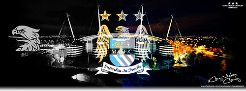 Etihad Stadium B&W/Color Facebook Cover Photo