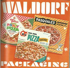 Frozen Pizza Boxes, 1966 (STUDIOZ7) Tags: food frozen 60s ad waldorf supermarket advertisement pizza packaging 1960s grocerystore product sixties redowl foodstore totinos pasquales