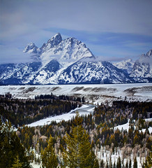 Classic (Zach Dischner) Tags: park winter snow mountains cold nature canon river eos frozen cool adams snowy snake mark gray peak grand scene national ii summit 5d wyoming teton lanscape ansel wintery 2013 march2013
