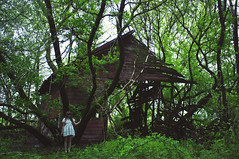 (yyellowbird) Tags: selfportrait abandoned girl barn forest illinois cari rockford