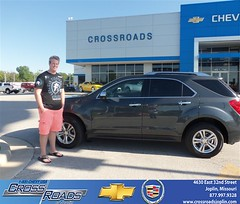 Crossroads Chevrolet Cadillac would like to say Congratulations to Elizabeth Nickelson on the 2010 Chevrolet Equinox (Crossroads Chevrolet Cadillac) Tags: new chevrolet car sedan truck wagon happy pickup cadillac mo used vehicles chevy missouri bday van minivan suv crossroads luxury coupe dealership caddy joplin shoutouts hatchback dealer customers 4dr 2dr preowned
