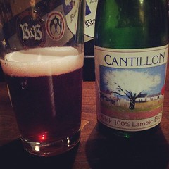 Our #craftbeer radar was strong today. Ran into a brewery that had Cantillon sours. Can't get them in the US. So good. (LibraryatNight) Tags: square squareformat rise iphoneography instagramapp uploaded:by=instagram