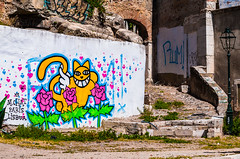 Wall Art on a Lisbon Ruin (Pauls-Pictures) Tags: street old city urban color colour art abandoned portugal cat photography graffiti ruins decay lisbon ruin streetphotography exploration streetphotos streetpics streetphotograhy streetpictures