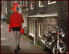 The beauty in a strange world.... #5 (martin alberts Pictures of Amsterdam) Tags: trudy redlightdistrict amsterdam martinalberts highheels erotic motorcycle
