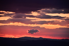 (Leela Channer) Tags: sunset clouds pink yellow silhouette mountains hills landscape scenery skyscape france pyreneesorientales