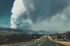 Forrest Fire in Dubois. (- Anthony Papa -) Tags: anthony papa photos grass green tumblr vintage matte film digital amazing road long depth composition canon5dmkii 24105mm water blue sky clouds rural nature landscape photography digitalrev white art travel dubois forrest fire wyoming