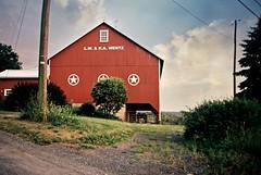 DSR2-045-21 (David Swift Photography Thanks for 16 million view) Tags: davidswiftphotography pennsylvania barns farms horses symbols 35mm olympusstylusepic kodakportra signs