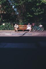 the past & the present (I AM JAMIE KING) Tags: 50mm edinburgh bench books candid people read scotland sit street streetphotography summer sun time timeline warp timewarp aberration strange chromatic chromaticaberration anthrapology humans shadow