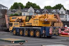 Ainscough Crane Hire Ltd Liebherr Mobile Crane KE04 HCJ (5asideHero) Tags: london wales rail electrification scheme ainscough crane hire ltd ke04 hcj mobile