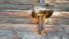- connector - (Jac Hardyy) Tags: connector solid connection wooden timber beam beams wedge exterior wall stegverbindung holz old house construction canton valais swiss switzerland wallis schweiz alt altes haus hauswand 19 th 19th century jahrhundert balken holzbalken