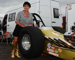 Ruth_7109 (Fast an' Bulbous) Tags: girl woman mature milf hot sexy chick babe drag dragster race car vehicle automobile fast speed power santa pod skirt boots people outdoor nikon motorsport d7100 gimp
