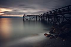 The Watchers (Creative Days) Tags: canon leebigstopper longexposure silhouettes norge norway trondheim bridge sunset naturescenery ocean sea travels summer