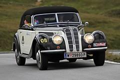 BMW 327, Bj. 1937 (Uwe Marquart) Tags: bmw327 baujahr1937 kennzeichen w29893p saalbachclassic photoweltenuwemarquart canon grosglockner panoramastrase oldtimer classiccar bmw ausfahrt oldtimerrallye austria sterreich berge natur edlesblech