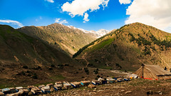 Back to Balakot (yousaf10c) Tags: honey lulusar balakot hives boxes mountains sky blue clouds beehive bees