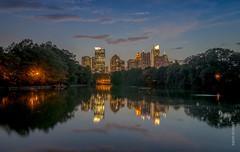 Atlanta downtown from Piedmont Park (e_arunsid) Tags: atlanta georgia us ultrawide nightshot longexposure skyline skyscrapercity skyscraper cityscape bigcity night lights tokina1224 nikond5100