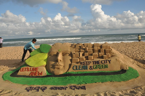 Swyat Sasan Diwas Sand Art at Puti Beach