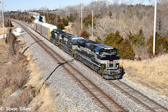 New York Central on the Saint Louis District. (Machme92) Tags: ns norfolksouthern norfolk emd heritage trains tracks railroad railfanning railroads railfans rails rail row railroading railfan sd70ace