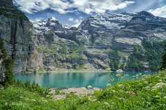 Oeschinensee (Claudia Bacher Photography) Tags: oeschinensee schweiz suisse switzerland berge mountain himmel heaven see lake flower blumen wasser water wolken clouds berneroberland kandersteg