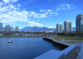 View North from the Science World roof garden