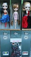New Arrivals <3 (pullip_junk) Tags: pullip groove jpgroove fashiondoll myselectmerl antiqueskulldress harleyquinn sdcc wonderwoman merl