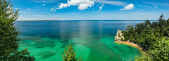 Pictured Rocks pano (Podsville) Tags: august lakesuperior michigan minerscastle picturedrocksnationallakeshore upnotth upperpeninsula summer