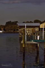 eveningtide (bMi2fotografx) Tags: sunset colors water refelection riverfront troutriver jacksonvilleflorida pinkclouds docks photography