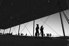 Silhouettes (tzevang.com) Tags: silhouette stavros niarchos foundation greece culturalcenter athens bw canon5d