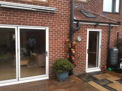 aluminium bi folding doors nottingham (The Nottingham Window Company) Tags: nottingham window company windows doors conservatories aluminium aluk cream light oak upvc bi folding bifolds