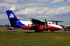 OK-SAS Let-410UVP at Pribram (flyingaxel) Tags: aviation aircraft let l410 pribram skydive turboprop cz