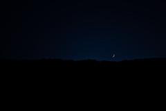 (Der Wunderbare Mandarin) Tags: night nightfall weemoon moon mountains ridge blue dark quiet introspection alone star sky journey end silence home abstract darkness minimal