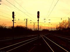 Komrom, Hungary (boti_marton) Tags: komrom hungary magyarorszg europa sunset trainstation railroad naplemente panasonic dmc lz20 lumix city cityscape
